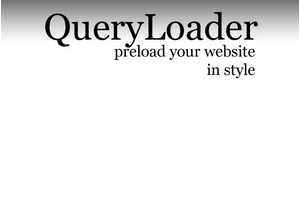 jQueryでFlashっぽいローディングを表示させられる「QueryLoader – preload your website in style」サンプル